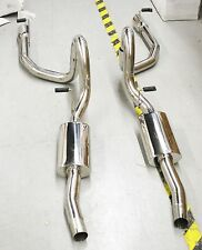 """SS Dual Catback Exhaust for 99-04 Ford Mustang GT Coupe 2D4.6L V8 ONLY 4"""" Tip OD"""