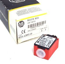 NIB ALLEN BRADLEY 802A-A28P2-S9 LIMIT SWITCH SER. A REV. A 240V 10A 802AA28P2S9