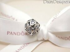 NEW Authentic PANDORA Silver LOVE ALL AROUND Heart Charm 791250CZ RETIRED