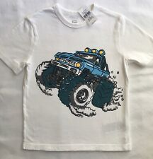 Gap Shirt Size 5 NWT New Boys Gapkids White 4X4 Monster Truck Tee Top