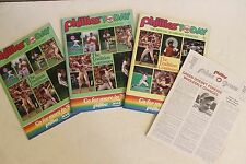 Vintage Philadelphia Phillies Baseball Souvenir Program Collectables 1980s Rare