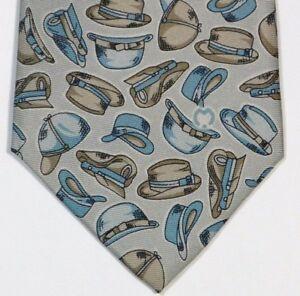 Silver Hats MILA SCHON Silk Tie