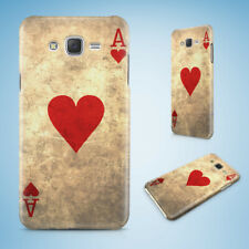 SAMSUNG GALXY J SERIES PHONE CASE BACK COVER ACE OF HEARTS PLAYING DECK CARDS
