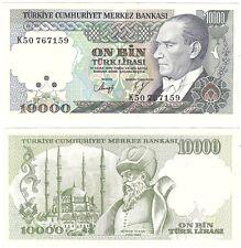 Turkey 10000 Lira 1970 (1989) P-200 UNC Uncirculated Banknote