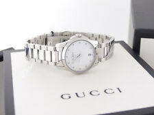 NEW Gucci G-Timeless Mother-of-Pearl Diamond Women's Watch YA126542