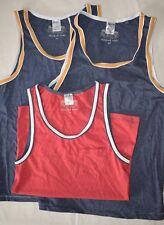 3 X siguiente Algodón Relaxed Fit Chaleco con bolsillo superior camiseta XS Rojo/Azul
