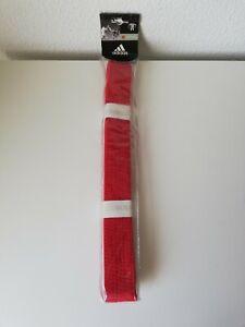New Adidas Martial Arts Red Belt Taekwondo Karate Belt Judo JiuJitsu