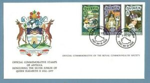 1977 ANTIGUA ROYAL COMMONWEALTH SOCIETY FDC