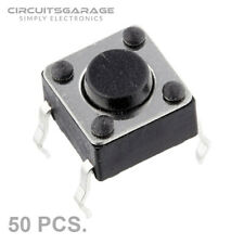 50 Pieces 6x6x5mm Through Hole Momentary Tactile Push Button Switch DIP4 - USA