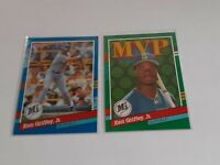 Ken Griffey Jr 1991 Donruss Error No Dot After Inc. #77 & #392 Seattle Mariners