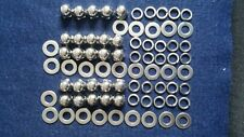 VESPA STAINLESS STEEL POLISHED DOME DOMED WHEEL NUTS & WASHERS QTY 25