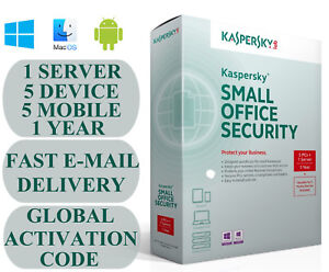 Kaspersky Small Office Security V8 1 Server 5 DEVICE + 5 MOBILE + 1 YEAR