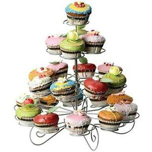 ASAB 4 Tier Wire Cupcake Stand - Muffin Holder for Wedding and Birthday Party