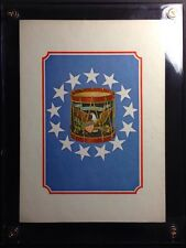 Rare Exhibit Sample David Ludwig Bloch Colonial Art Edition X-Large Playing Card
