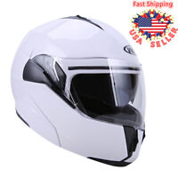 Motorcycle Dual Visor Flip up Modular Full Face Helmet DOT Approved Sport Bikes