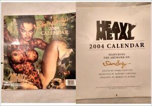 HEAVY METAL SIMON BISLEY CALENDARIO 2004 ARTWORK