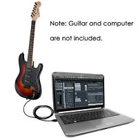 Neewer USB Interface Male to Electric Guitar Converter Cable for Recording