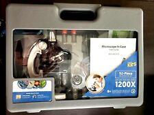 New Listingamscope 52pc 120x 1200x Kids Starter Compound Microscope Portable Science Kit