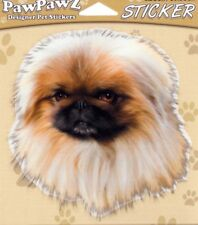 "Pekingese Decal Bumper Sticker Gifts Men Ladies Pets Dogs 4.5"" Outdoors/Indoors"