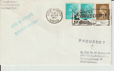 """GREAT YARMOUTH, NORFOLK """" PAQUEBOT """" + SHIP'S CACHET -  1977 COVER"""