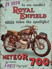 Royal Enfield Meteor 700 motorbike metal advertising sign, 15x20cm wall plaque