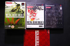 METAL GEAR SOLID 3 SUBSISTENCE LIMITED EDITION msx Sony Playstation2 PS2 JAPAN