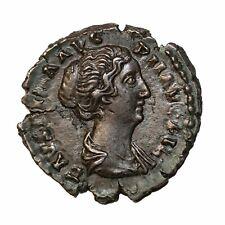 Faustina II Jr. Augusta Silver Denarius Roman Coin RIC.502a