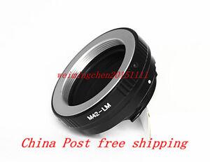 M42 Lens to Leica M/ Voigtlander M/ Ricoh GXR M mount Camera Adapter