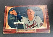 1955 Bowman # 298 Charlie Grimm Baseball Card Milwaukee Braves