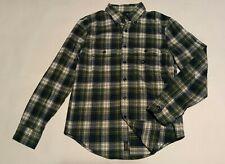 NWT New ABERCROMBIE & FITCH Men's Green Plaid Flannel shirt XS