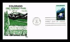 US COVER COLORADO STATEHOOD CENTENNIAL FDC SCOTT 1711 BAZAAR CACHET
