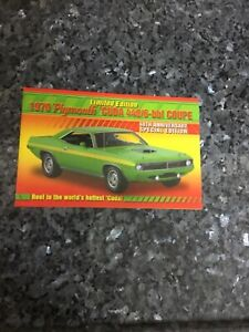 Danbury Mint the 1970 Plymouth Cuda 440/6-bbl 40th A Coupe promotional Brochure