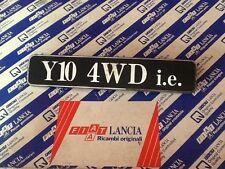"""AUTOBIANCHI """"Y10 4WD I.E."""" SIGLA SCRITTA POSTERIORE originale"""
