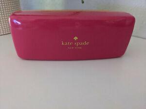 kate spade NEW YORK EYEGLASS CASE Patent Faux Leather Eyes Pink Orange