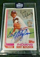 2020 Archives Bert Blyleven Signature Series Auto 13/15 MLB Cleveland Indians
