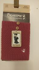 New BEARPAW Boot Toppers ..One size ...Magenta