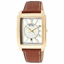 Kenneth Cole Men's KC1346 Reaction Watch Gold Stainless White face Watch