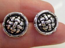 Gorgeous Estate Stunning JH John Hardy Sterling Silver Bamboo Pierced Earrings