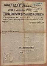 CORRIERE DELLA SERA 3 MARZO 1941 BULGARIA SOBRAJNE GOEBBELS MELZO SAN SIRO ROMA