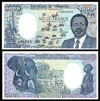 CAMEROUN CAMEROON 1000 FRANCS 1990 P-26b UNC ***