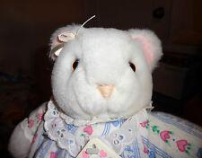 "Eden Plush White Bear Lanz Salzburg w Removable Flannel Nightgown 12"" Soft Baby"