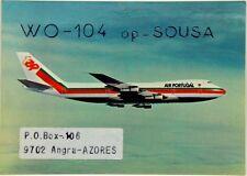 Cartolina Aviazione - Aereo In Volo TAP Air Portugal - (Retro Scritta Da Un Radi