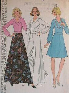 VTG 73 McCALLS 3829 Misses Top Flared Skirts & Wide Leg Pants PATTERN 16/38B