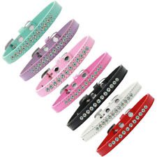 Mirage Pet Products AB Crystal Puppy Dog Collar — Pick Size / Color