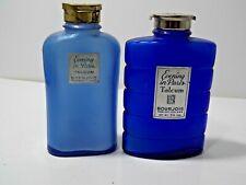 Vintage Evening in Paris Bourjois Talcum Powder  2 Glass Bottles