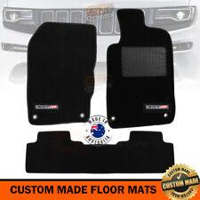 Custom Floor Mats JEEP GRAND CHEROKEE SRT8 WK2 2Row Black 5/2011-2019 SRT-8 LOGO