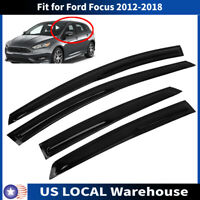FOR 12-18 FORD FOCUS 4 DOOR HATCHBACK ST WAVY 3D STYLE SMOKE WINDOW VISOR SHADE