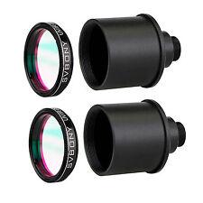 """2x 1.25"""" UV/IR Cut Block Filter+Webcam Adapter for CCD Camera/Telescope Eyepiece"""