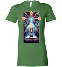 Meditation- Womans Fitted T-shirt (S-2xl) New Age Spiritual