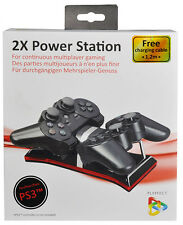 Base Di Ricarica 2 Controller 2X Power Station PS3 Playstation 3 PLAYFECT